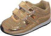 Modieuze Sneakers met Klitteband - Goud maat 20