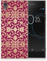 Sony Xperia XA1 TPU Hoesje Design Barok Pink