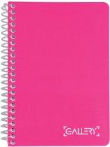 36x Gallery notitieboek Passion For Colour, A6, geruit 5mm, 160 bladzijden, geassorteerde kleuren