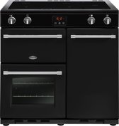 Belling Farmhouse 90Ei Range cooker Induction hob Zwart