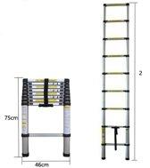 Aluminium telescoop ladder 2 meter