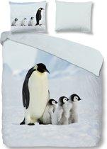 Good Morning 2051-P Pinguin - dekbedovertrek - tweepersoons - 200x200/220 cm  - 100% katoen - multi