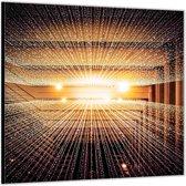 Dibond –Indoor Waterval – 50x50cm Foto op Dibond;Aluminium (Wanddecoratie van metaal)