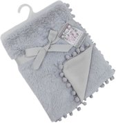Soft Touch Babydeken Pompom 75 X 100 Cm Grijs