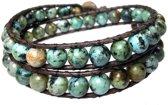 Bela Donaco Heren armband classic Afrikaanse Turquoise