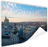 Madrid in de avond Poster 180x120 cm - Foto print op Poster (wanddecoratie woonkamer / slaapkamer) / Steden Poster XXL / Groot formaat!