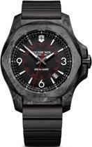 INOX Carbon, black dial, black rubber strap