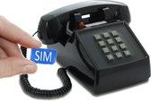 OPIS PUSH-ME-FON MOBILE Retro telefoon voor het mobiele netwerk (SIM-kaart) - Zwart