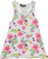 Losan Meisjes Jurk Wit met bloemen - Maat 92