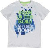Losan Jongens Shirt Wit  met print  - Maat 128