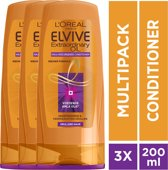 L'Oréal Paris Elvive Extraordinary Oil Krulverzorging Conditioner - 3x 200ml - Voordeelverpakking