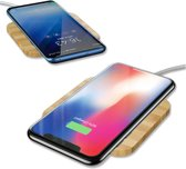 DrPhone - Draadloze Qi Lader 10W - Wireless Charger - Mobiele Telefoon Lader - Laadstation - Houten Design - Draadloos Universeel Opladen - Geschikt voor o.a. iPhone XS Max, XR,7,8 - Samsung Galaxy S10,S10E, S10+, Mate 20 Pro,. LG G7, Oneplus 6 etc