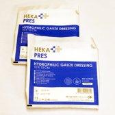 HEKA Hydrofiel Gaaskompres Steriel | 10x10 cm | 10 stuks | Verband | MEDIC First Aid | EHBO Set