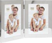 Deknudt Frames Tweeluik glanzend zilver, verticaal 13x18 cm S67AH1V1