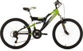 Ks Cycling Mountainbike 24'' fully kinder-MTB Zodiac van KS Cycling, groen-zwart, FH 38 cm - 38 cm