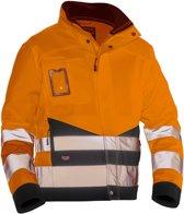 Jobman 1231 Service Jacket Hi-Vis Kl.3 Oranje/Zwart maat L