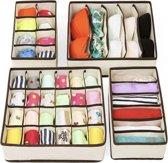 Organizer – Kleding verdeler - 4 stuks – opbergboxen – Opbergsysteem – Ondergoed/Sokken/Shirts