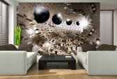 Fotobehang 3D, Design | Bruin | 152,5x104cm