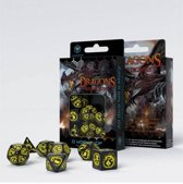 Polydice Set Q-Workshop Dragons Black Yellow