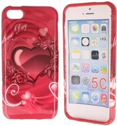 iPhone 5C Special Silicon Case Hoesje - Love Hearts