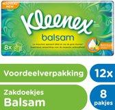 Kleenex Balsam Zakdoekjes - 12 x 8 stuks