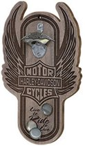Harley-Davidson Winged Bar & Shield Magnetische Flessenopener