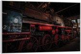 Plexiglas –Locomotief– 90x60cm (Wanddecoratie op Plexiglas)