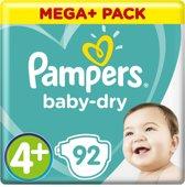 Pampers Baby-Dry - Maat 4+ (Maxi+) 10-15 kg - 92 Stuks - Luiers