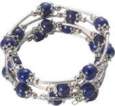 Edelstenen armband Tibetan 5 Loops Lapis Lazuli