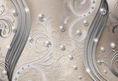 Fotobehang Pattern Abstract Ornament Leaves   L - 152.5cm x 104cm   130g/m2 Vlies