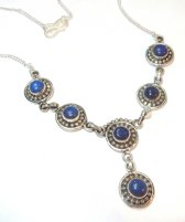 Zilveren Lapis Lazuli Collier