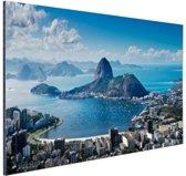 FotoCadeau.nl - Rio de Janeiro landschap Aluminium 60x40 cm - Foto print op Aluminium (metaal wanddecoratie)