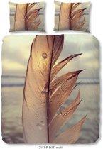 Good Morning Dekbedovertrek Feather - 140x200/220 - Eenpersoons - 100% Fijne Katoen