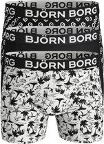 Bjorn Borg boxershorts Essential - 3-pack - zwart-wit Maui -  Maat XL