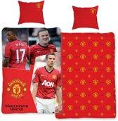 Manchester United dekbedovertrek - Rood - 1-persoons (140x200 cm + 1 sloop)
