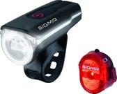 Sigma Aura 60 + Nugget II Fiets Verlichtingsset - USB - Zwart