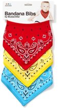 FCTRY - Bandanna Bibs - Set of 3 - Red/Blue/Yellow