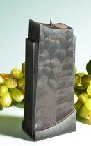 Apollo kaars, ZWART POLYMICO, hoogte 18 cm