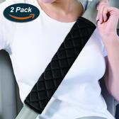 Luxe gordelhoes - Auto gordelbeschermer - Gordelkussen auto - Zwart - 2 stuks gordelbeschermers