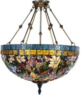 Plafondlamp compl. tiffanykap floral Ø 70 cm 6x E27 max 60w.