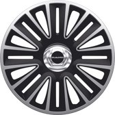 AutoStyle 4-Delige Wieldoppenset Quadro Pro 16-inch zilver/zwart + chroom ring