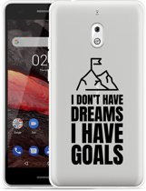 Nokia 2.1 Hoesje Goals are for Men