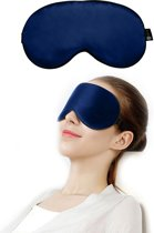 SIMIA™ Premium Zijden Slaapmasker - Luxe Verstelbare Reismasker - Slaapbril - Organic Satin - Nachtmasker - Oogmasker - Blinddoek - Meditatie - Yoga - Slaap - Reis - Zijde - Zijdezacht - Anti Rimpel - Cadeau Tip - Marine Blauw