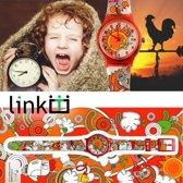 Linkgraphix - Horloge - Kunststof - 34 mm - Oranje
