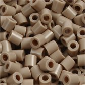 Strijkkralen, afm 5x5 mm, gatgrootte 2,5 mm, beige (6), medium, 6000stuks