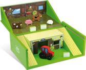 Speelgoed boerderij van hout met dieren en accessoires