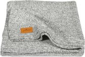 Jollein Stonewashed Knit - Ledikantdeken 100x150 cm - Grijs
