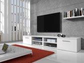 Meubella - TV-meubel Bash II - Wit - Mat - 240 cm (2x 120)