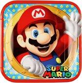 8 Plates Super Mario 23 x 23 cm