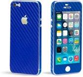Avanca Telefoon Wrap/Sticker - Telefoonbescherming - Carbon Film - iPhone 5/5S - Blauw